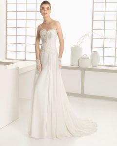 اللون الابيض يمكن ان يكون فستان خطوبة رائع او فستان حفل زفاف او داخلة رائع لسنة 2016 للفتيات العربيات