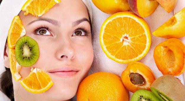 ماسك البرتقال علي الوجه