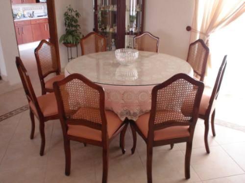Mesas redondas para comedor gallery of mesas redondas - Mesas redondas cristal comedor ...