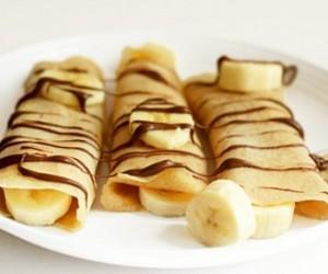 طريقة عمل الكريب الحلو بحشو الموز