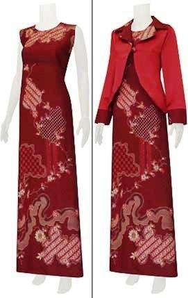 Jual Baju Batik Gamis Sarimbit Modern Gambar Baju Gamis Batik